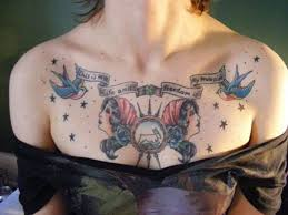 25 beautiful chest tattoos for women ideas on pinterest chest
