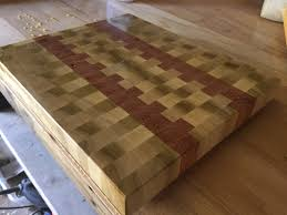 poplar oak end grain cutting board album on imgur end grain butcher block style cutting board since my 3rd layoff in 6 months being a machinist in the oilfield industry in southern louisiana sucks i have