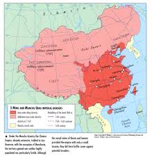 Turkestan Map When The Manchu Qing Pronounced Ching Dynasty Took Power From