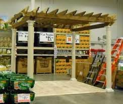 Home Depot Pergola by Build A Pergola With Columns From Start To Faux Finish The Home