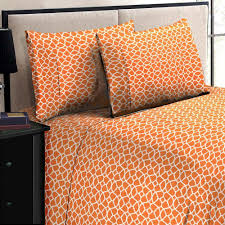 Twin Sheet Set Home Dynamix Jill Morgan Fashion Printed Geo Orange White