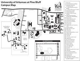 campus map university of arkansas at pine bluff