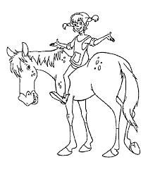sitting horse coloring pages kids gmw printable pippi