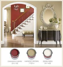 warm traditional interior paint color palette with