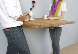 Wall Bar Table Minimalist Wooden Decor Offers Organic Small Space Solutions