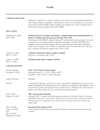 sample career objectives for resumes 20 resume objective examples