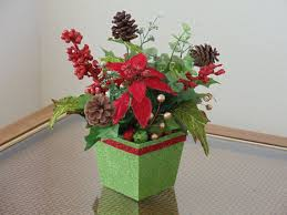poinsettia floral arrangement by natureswhimzy