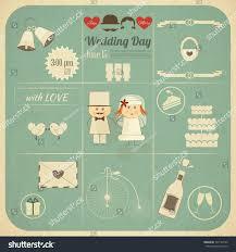 Format Of Wedding Invitation Card Wedding Invitation Card Retro Infographics Style Stock Vector