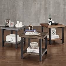 Industrial Accent Table Cyra Industrial Reclaimed Rectangular Coffee Table By Inspire Q
