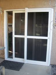 exterior design beautiful white retractable screen door with