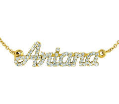 Real Gold Necklace With Name Personalized
