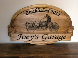 Harley Davidson Decor Personalized Family Sign With Harley Davidson Carve Motorcycle