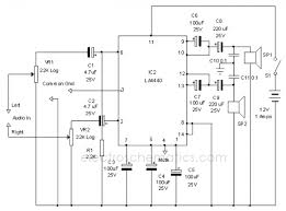 wiring diagram ref la4440 stereo lifier circuit