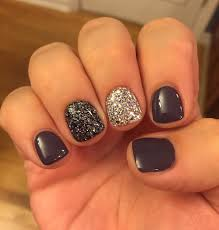 grey gel glitter accent nail art https www facebook com