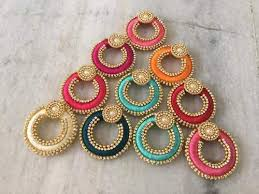 thread earrings silk thread earrings at rs 120 pair silk thread earrings id