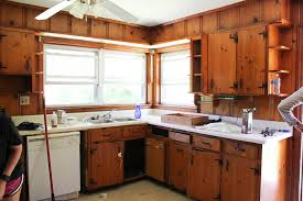 painting knotty pine kitchen cabinets white modern and colorful farmhouse kitchen plans