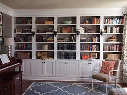bookshelves built into wall