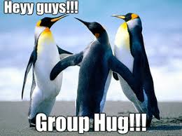 Group Hug Meme - why breaking up with a friend is the same as breaking up with an ex