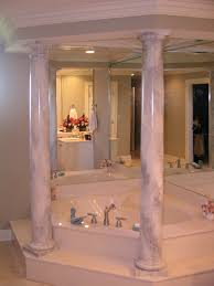 Bathrooms By Design Carrera Marble Columns For A Private Bathroom By Martin Riding