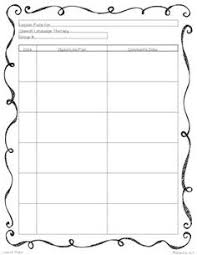 lesson plan template speech therapy this is an easy to use lesson plan template for speech and language