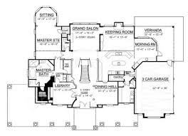 Floor Plan Of A 2 Story House Broadstone Place Traditional House Plan Luxury House Plan