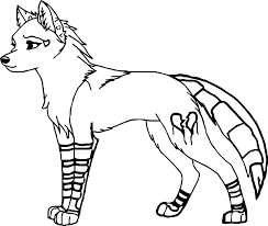 easy to color anime wolf coloring pages free coloring sheets