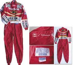 racing jumpsuit worn racing jumpsuit formula one j villeneuve original