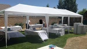 amazon com quictent 10 x 30 outdoor canopy gazebo party wedding