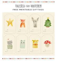 free printable gift tags valesca van waveren art illustration