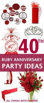 40th anniversary ideas the 25 best 40th anniversary gifts ideas on 40th
