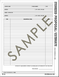 Hvac Estimate Template by Atlas Construction Business Forms Save And With The