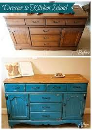 Repurposed Dresser Kitchen Island - dresser to kitchen island repurpose ideas repurpose dresser