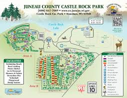 Map Of Central Wisconsin by Castle Rock Juneau County