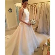 simple open back wedding dresses a line chagne lace and tulle open back wedding dress