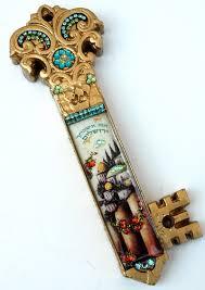 jerusalem key mezuzah judaica mezuzahs
