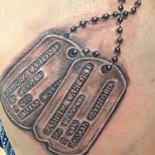 remembrance dog tags dog tag tattoos