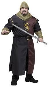mens valiant medieval knight plus size costume mr costumes