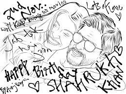 happy birthday shah rukh khan digital art by anuj rajoria at