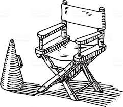 siege metteur en siège de metteur en scène mégaphone dessin cliparts vectoriels