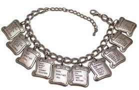 charm bracelet for 10 ten commandments silver charm bracelet