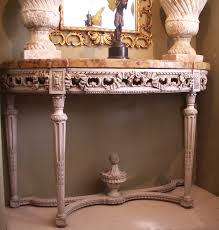 Antique Console Table Marble Top Console Table 1 Painted Carved Wood Console Table
