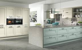 light blue kitchen cabinets uk shaker in ivory and light blue saturn interiors