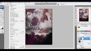 membuat poster photoshop cs3 simple photoshop tutorial cover fanfiction dark lover youtube