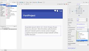 matrix layout xml view downloadable fonts android developers