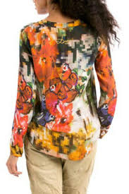Desigual Home Decor by Desigual Camila Pixelated Butterfly Top From Hawaii By Hurricane