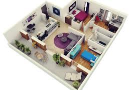 Flat Plans 2 Bedroom House Plans Designs 3d Artdreamshome Beautiful Luxihome