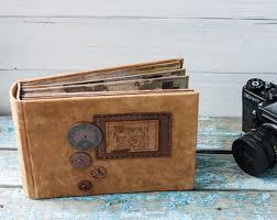 Leather Photo Album 4x6 Retro Photo Album Etsy