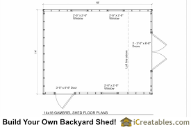 shed floor plan 14x18 gambrel shed plans 14x16 barn shed plans