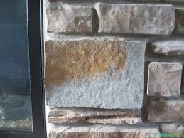 gray washed fireplace stone using annie sloan chalk paint life this gray washed fireplace stone looks so much better now great tutorial with helpful