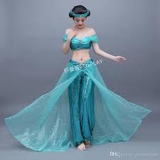 Alladin Halloween Costume Womens Adults Ladies Jasmine Costume Halloween Character Cosplay